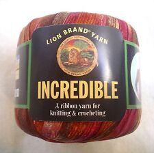 Lion Brand INCREDIBLE Yarn Autumn Leaves 206 FUN Vintage Ribbon 50 Grams
