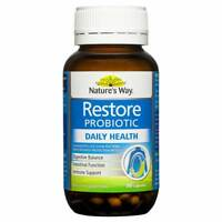 NATURE'S WAY RESTORE PROBIOTIC 90 CAPSULES DAILY HEALTH DIGESTION IMMUNE NATURES