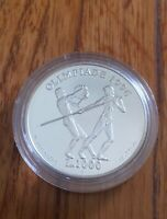 1995 San Marino Silver Proof 1000 Lire Coin Olympic Games 1996 Discus & Javelin.