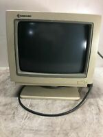 Vintage Samsung MD-1252G CRT Tube Computer Monitor From 1987 RARE OLD COLLECTOR