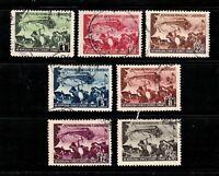 Albania stamps #425 - 431, used, 1948, short set, no 424, SCV $42.35