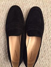 d64cfb29bb9 JCREW Charlie Penny Loafers in Suede Flats  168 10 Black F5592 SOLDOUT!