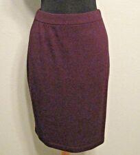 St. John Collection Skirt Sz. 4 Deep Purple Straight Pencil Knee Length #1312