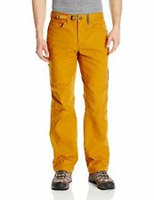 prAna Men's Continuum Pant Sahara Brown Size 36x32 98% Organic Cotton 2%Spandex