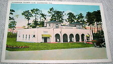 Vintage Clearwater Country Club, Florida White Border Linen Postcard