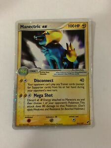 Pokemon MANECTRIC EX Deoxys Set 101/107 Ultra Rare Holo LP/NM