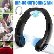 Portable USB Rechargeable Lazy Fan Hanging Neck Mini Smart Cooling Neckband Fan