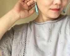 Crystal tassel earrings handcrafted sterling silver freshwater pearl