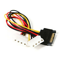 Femlea Dual 4 Pin IDE Molex to 15 Pin Serial ATA SATA Drive Adapter Power B H3X3