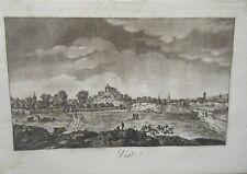 GRAVURE A L' AQUATINTE DE LOUIS  BRION 1792 VIC MEURTHE ET MOSELLE