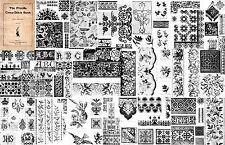 1899 Victorian Era Priscilla Embroidery Pattern Book Bead Cross Stitch Patterns