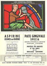 Carte + LES CORPORATIONS + Vitraux de la Cathédrale de Chartres - PORTEUR D'EAU
