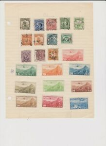 2176 China 3 sides album page 56 stamps mixed condition