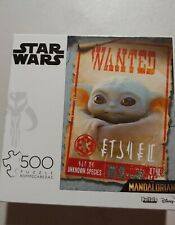 Star Wars The Mandalorian The Child Wanted Poster 500 Piece Puzzle