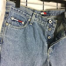 Tommy Hilfiger Womens Jeans Size 9 9/31 Vintage Button Fly Big Flag Logo A19-16