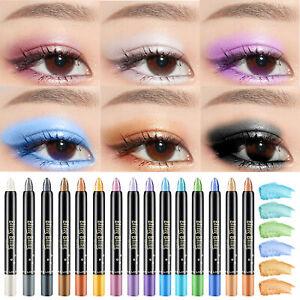NEW 15 Colors Shimmer Eyeshadow Stick Pen Lasting Waterproof Makeup Pencil
