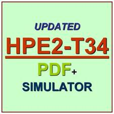 HP Using HPE OneView HPE2-T34 Test Exam QA PDF+Simulator