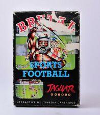 Brutal Sports Football Atari Jaguar Complete in Box Not Mint
