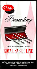 Case Royal Sable Line Cutlery Knives Vintage Brochure Carvemaster Aristocrat +++