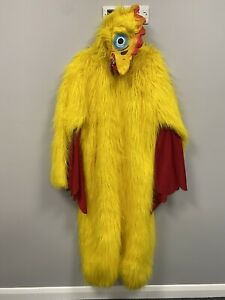 Yellow Chicken Mascot Costume - Ex Hire Fancy Dress Animal Cosplay