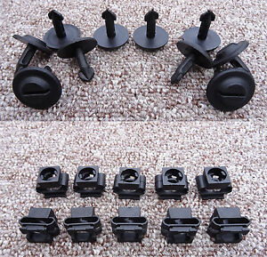 RENAULT PLASTIC ENGINE UNDERTRAY CLIPS AND CLAMPS SPLASHGUARD UNDER COVERS