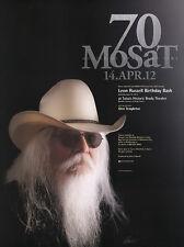 Leon Russell Birthday Bash 2012 Tulsa Oklahoma Original Concert Poster