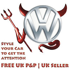 Red Chrome 3D Devil Car Logo Emblem Decal Badge Sticker VW Volkswagen BMW Toyota