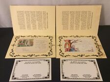 Lot Of 2 Americana Birthday Christmas Vintage Post Cards Picture Sayings Used