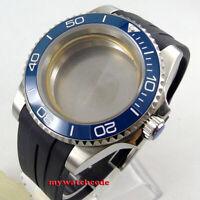 40mm sapphire glass blue ceramic bezel Watch Case set fit 2824 2836 MOVEMENT
