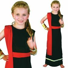 Girls Greek Goddess Kids Costume Roman Toga Outfit Book Week Child Fancy Dress