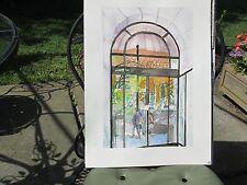 "Original Watercolor/ PLAZA ATHENEE, PARIS FRANCE/ 14""x20""/Mimi Davis, Artist"