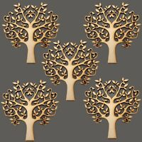 5 x Wooden 100mm Blank Tree Shapes Art Craft,Decoupage Family Christmas MDF SBT