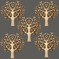 Pack of 5 Wooden MDF 150mm Blank Tree Shape Craft Decoupage Family Christmas SBT