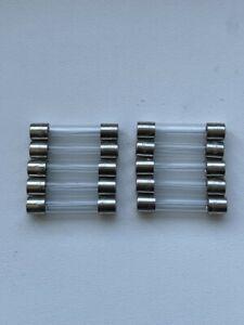 10 x 500mA Fast Blow 32mm Fuses 250v Quick Blow Glass Fuse F0.5AL - NEW UK