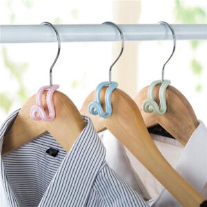 Storage 5Pcs Clothes Hanger Connector Hooks Portable Finishing Plastic Mini 6N