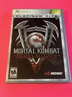 🔥 MICROSOFT XBOX - 💯 COMPLETE WORKING GAME 🔥MORTAL KOMBAT DEADLY ALLIANCE  🔥