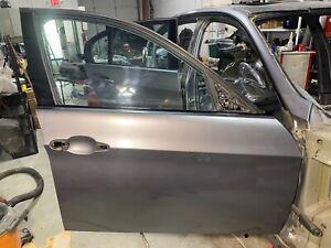 04-12 BMW E90 325I 328I 335I FRONT RIGHT PASSENGER DOOR SHELL spacegrey metallic