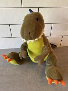 "Gund AaAah Dinosaurs Tristen 16"" The Green T-Rex Plush Soft Stuffed Toy Corduroy"