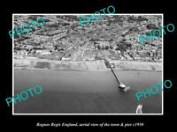 OLD LARGE HISTORIC PHOTO OF BOGNOR REGIS ENGLAND, VIEW OF THE TOWN & PIER 1950 2