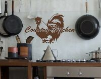 Country Kitchen Quote with Rooster - highest quality wall decal stickers