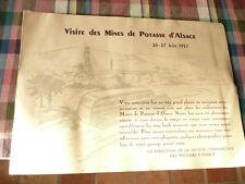 plaquette photo invitation 26 27 juin 1957 ASPACH LE BAS mine potasse d alsace