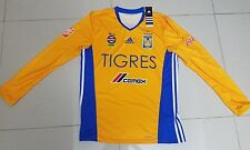 TIGRES UANL ORIGINAL JERSEY LOCAL LONG SLEEVE 2017 SIZE LARGE