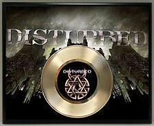 Disturbed Poster Art Metalized Record Music Memorabilia Plaque Wall Art