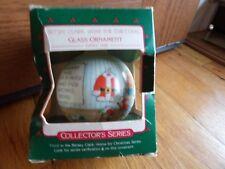 New Betsey Clark Glass Ornament 1988 Hallmark unused orig box 3 series metal cap