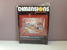 Dimensions Stamped Cross Stitch Autumn Countryside New 3051 USA 1985