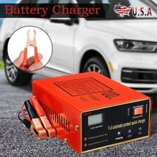 Maintenance-free Battery Charger 12V/24V 10A 140W Output For Electric Car RED
