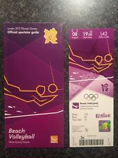 LONDON 2012 OLYMPIC TICKET BEACH VOLLEYBALL FINAL USA GOLD & SPECTATOR GUIDE