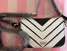 Victorias Secret Mini Crossbody Shoulder Bag WICKED - Black White - NEW!