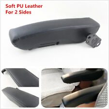 Universal Black Soft PU Leather Truck Seat Armrest Console Box Seat Parts 2Side