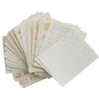 30PCS Multi Designs Gold Silver Water Transfer Nail Art Stickers Decal Tips Set
